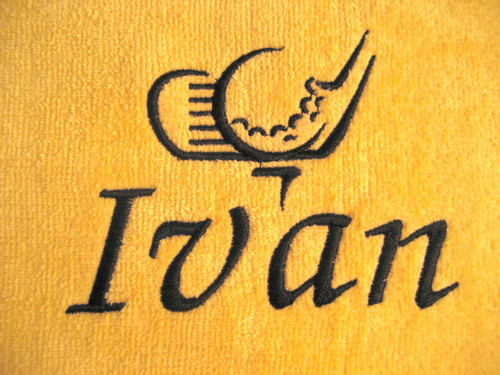 "Used with our #129 Zebra Font to spell ""Ivan"""