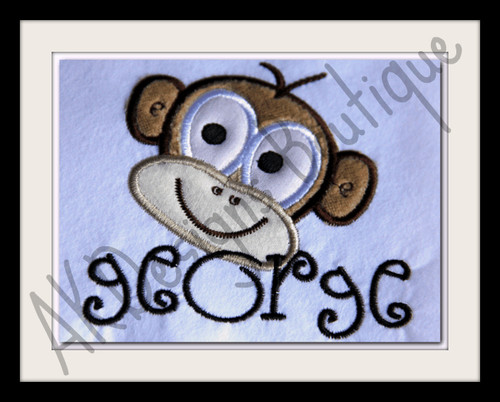 """We used the lowercase letters from our #22 Fun Font to spell """"george"""""""