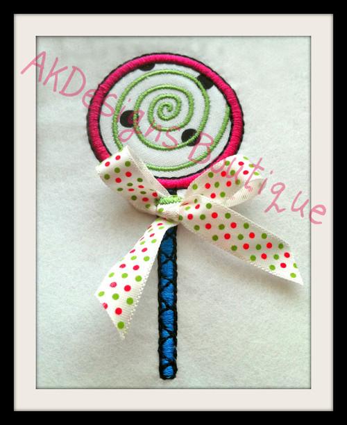 No 877 Applique Lollipop Machine Embroidery Designs