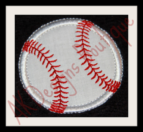 No 863 Applique Baseball or Softball Machine Embroidery Designs