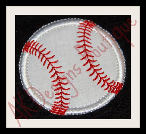 No 863 Applique Baseball or Softball Machine Embroidery Designs
