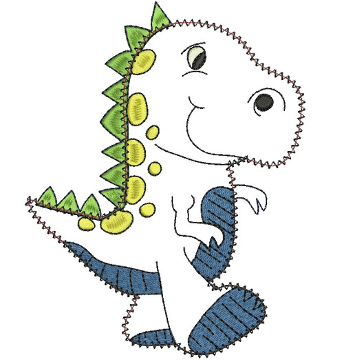 No 588 Dino the Dinosaur Applique Machine Embroidery Designs