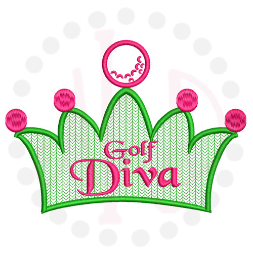 No 105 Golf Diva Machine Embroidery Designs