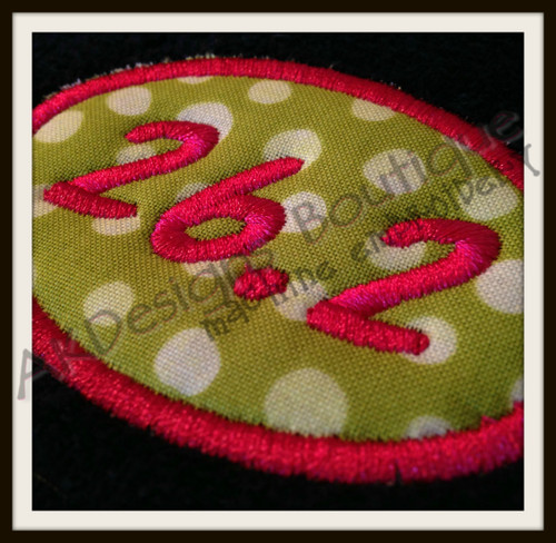 No 559 Applique Marathon and Half Marathon Machine Embroidery Designs