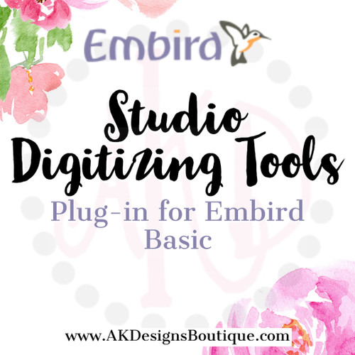Studio Digitizing Tools Plugin for Embird Editing Software Program