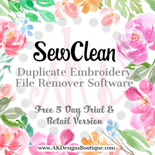 SewClean Duplicate Embroidery File Remover Software