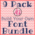 "9 Pack ""Build Your Own"" Font or Monogram Bundle Deal - Machine Embroidery Designs"