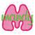 No 54 Lollipop Applique Font Machine Embroidery Designs