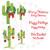 No 160 Southwest Christmas Cactus Machine Embroidery Designs
