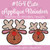 No 164 Cute Applique Reindeer Machine Embroidery Designs