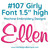 No 107 Girly Font Machine Embroidery Designs 1.5 inch high