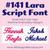 No 141 Lara Script Font Machine Embroidery Designs .5 inch high