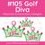 No 105 Golf Diva Machine Embroidery Designs
