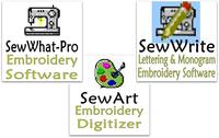 SewWhat-Pro, SewArt, and SewWrite Embroidery Software Comparison