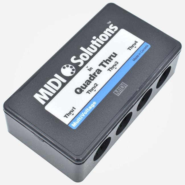 MIDI Solutions QUADRA THRU 4-way Din Midi Splitter