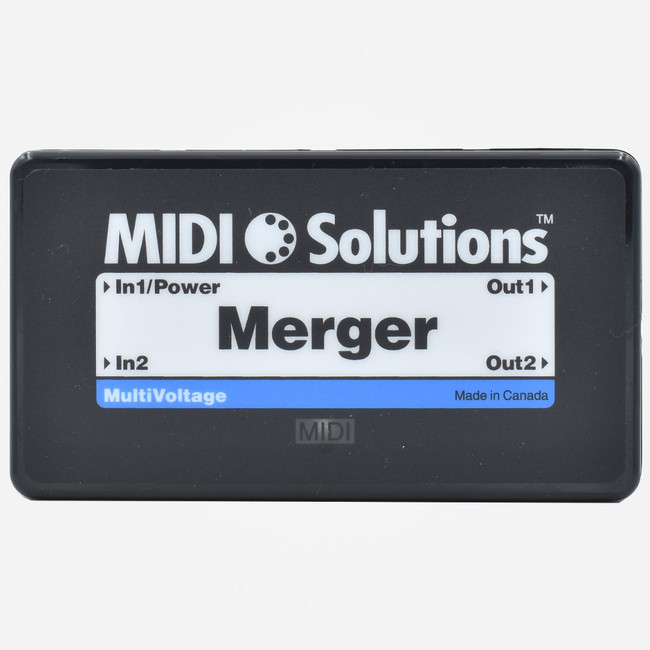 MIDI Solutions MERGE Two Channel DIN Midi Merger Box