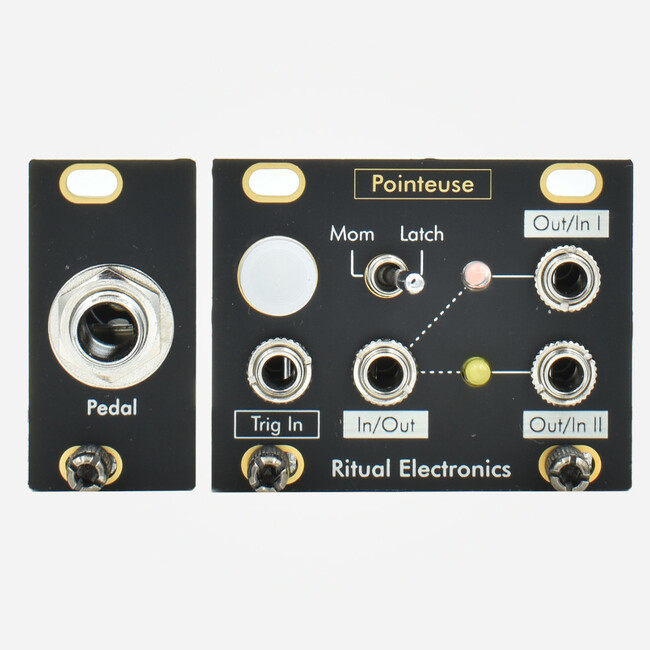 Ritual Electronics POINTEUSE 1U (Intellijel Format) Eurorack Pedal Interface and Switch Tile