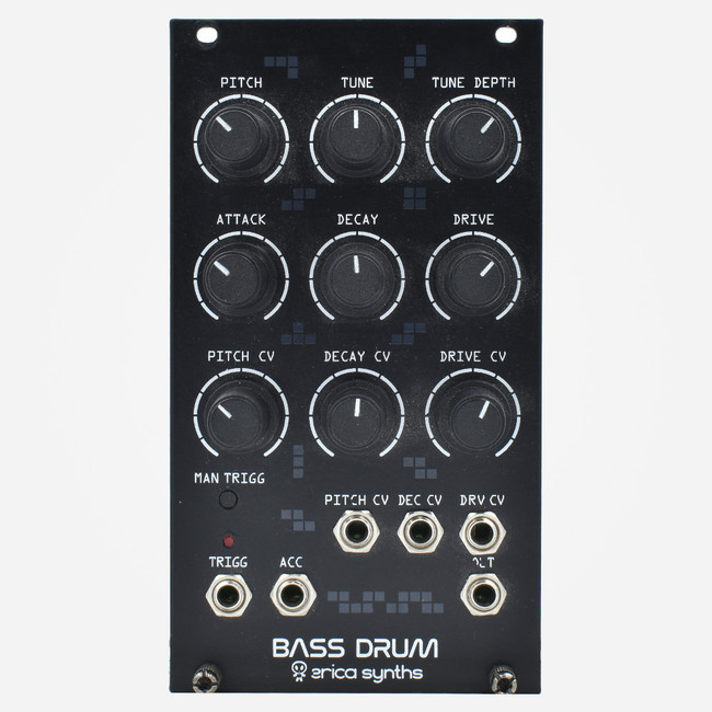 Used Erica Synths BASS DRUM Eurorack Kick Module