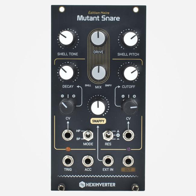 HexInverter Mutant Snare Eurorack TR808 Snare Clone Percussion Module (black panel)