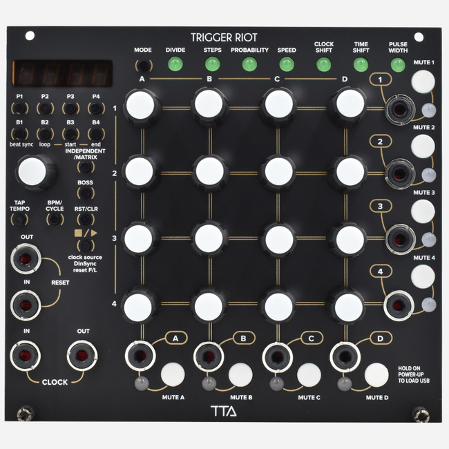 Tip-Top Audio TRIGGER RIOT Eurorack Clock Divider and Generative Rhythm Sequencer