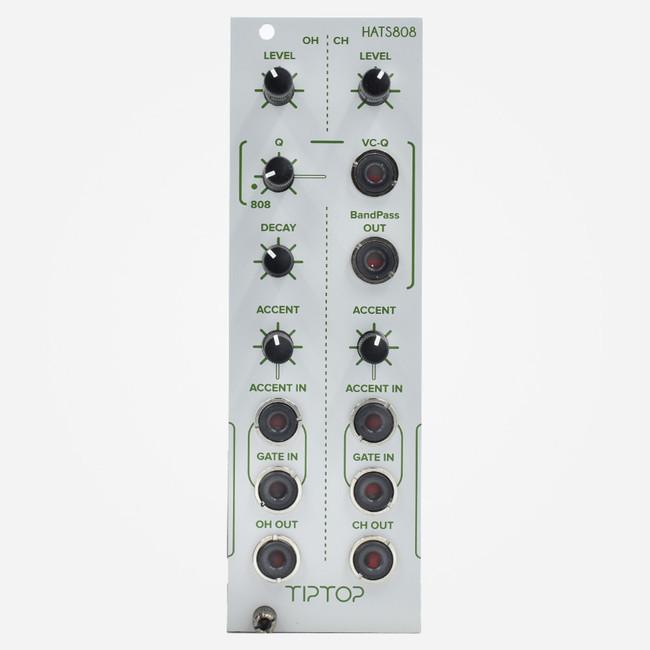 Tip -op Audio Hats808 (white) Eurorack Tr-808 Hi Hat Clone Percussion Module