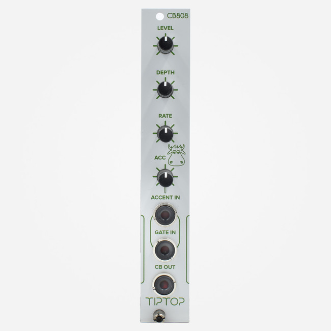 Tip-Top Audio CB808 (White) Eurorack TR-808 Cowbell Clone Percussion Module