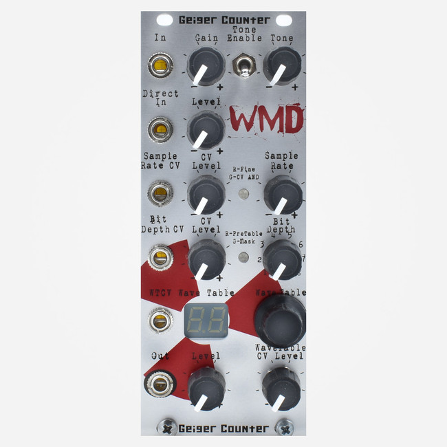 WMD Geiger Counter Eurorack Wavetable Distortion Module