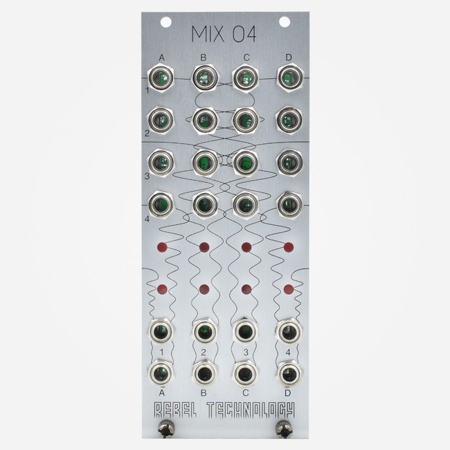 Rebel Technologies MIX 04 Eurorack VCA Matrix Mixer Module