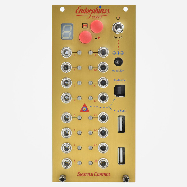Endorphin.es SHUTTLE CONTROL 16 Channel Eurorack MIDI to CV Module