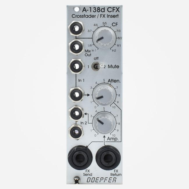 Used Doepfer A-138d CFX Crossfader and Audio Insert Eurorack FX Loop Module
