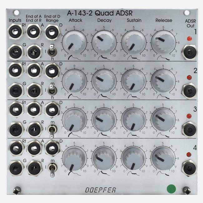 Used Doepfer A-143-2 Eurorack QUAD ADSR Module