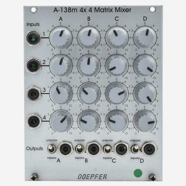 Used Deeper A-138m Eurorack Quad Matrix Mixer Module