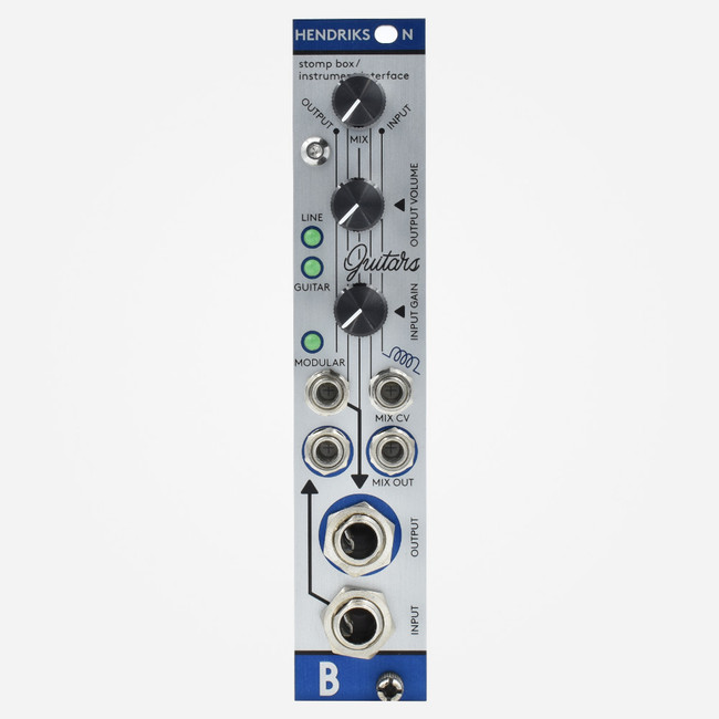 Bastl HENDRICKSON Aluminium Panel Eurorack Input Output FX Loop Module for Guitar Pedals