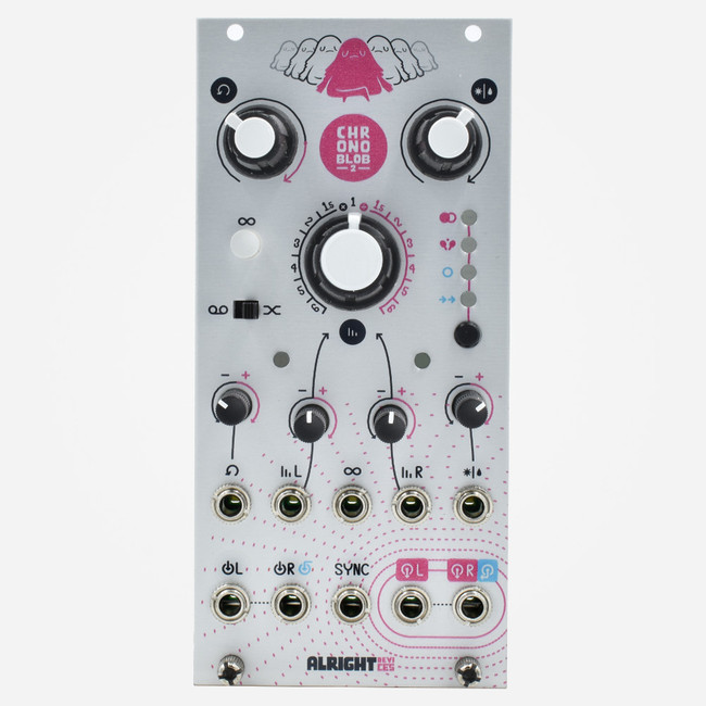Alright Devices CHRONOBLOB2 Eurorack Dual Tempo-Synced Delay Module