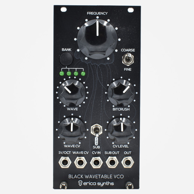 Used Erica Synths Black Wavetable VCO Eurorack Module