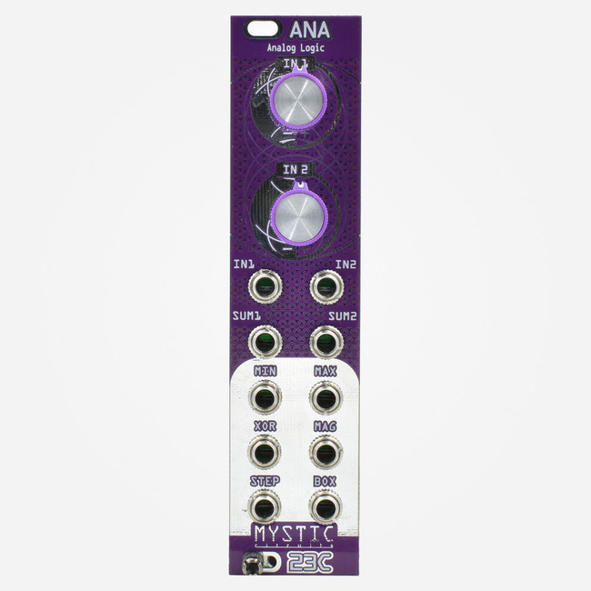 Mystic Circuits ANA Analog/Continous Logic Module Purple Panel 23C