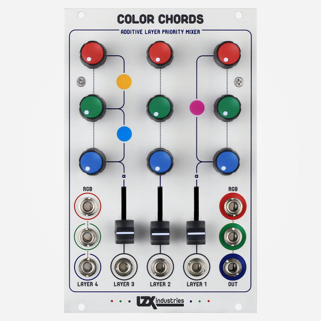 LZX Industries COLOR CHORDS Eurorack Layered RGB Mixer For Video Synthesis