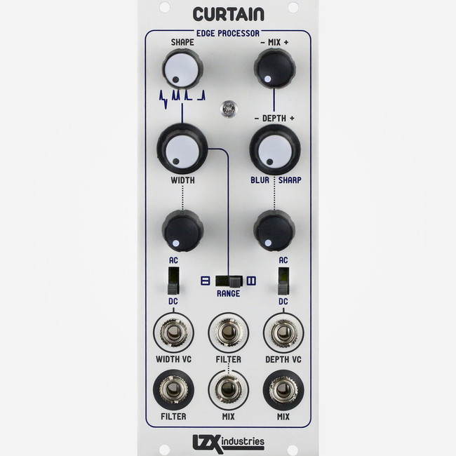LZX Industries CURTAIN Eurorack Mixer Filter and Edge Processor for Modular Video Synthesis