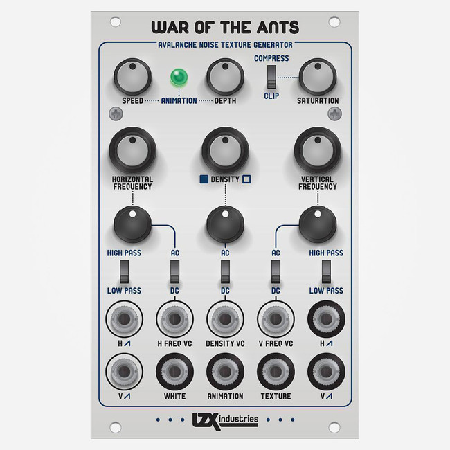 Lzx Industries WAR OF THE ANTS Eurorack Exotic Textured Snow Generator for Modular Video Synthesis