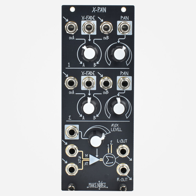 Make Noise X-PAN Eurorack Dual Stereo Panning Crossfader and Effect Send Module