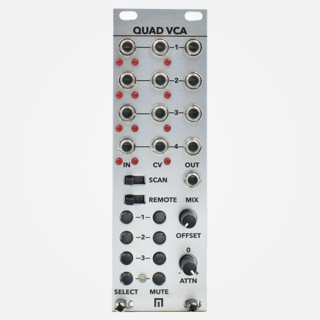 Malekko Quad VCA with Mutes and Control Select Bus Preset System