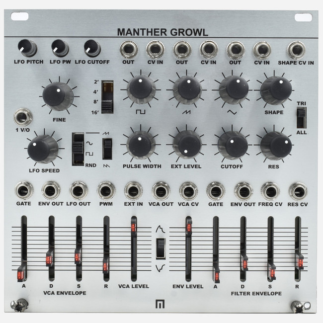 Malekko Manther Growl Eurorack Monosynth Module