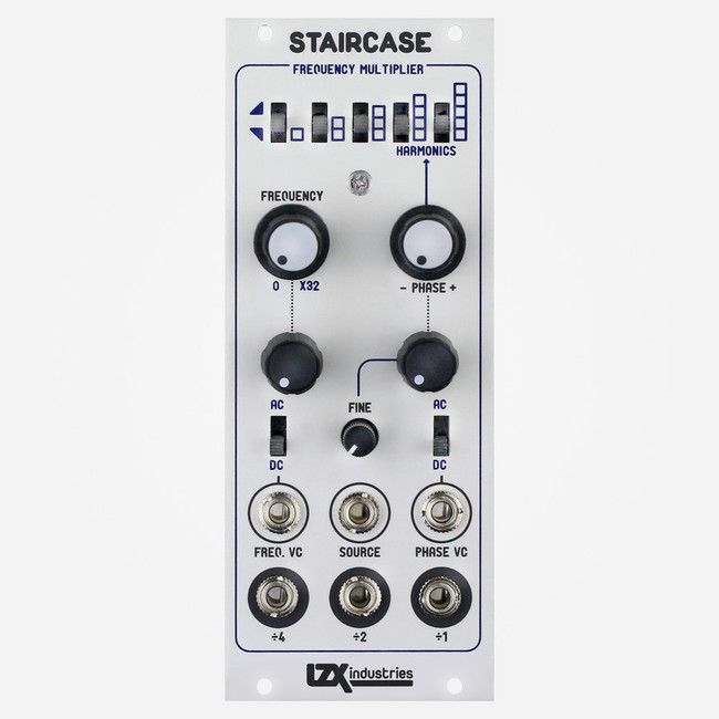 Lzx Industries STAIRCASE Eurorack Frequency Multiplier and Waveshaper for Modular Video Synthesis