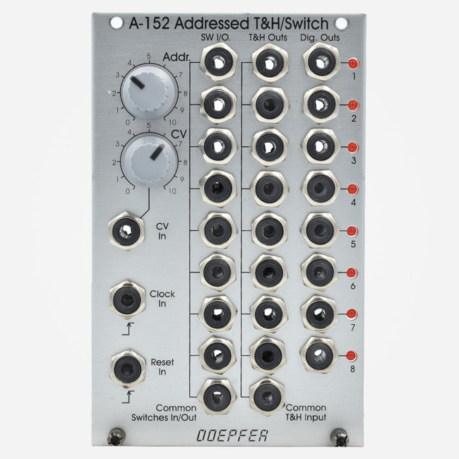 Used Doepfer A-152 Addressed T&H/Switch Eurorack Sequence Switch and Track and Hold