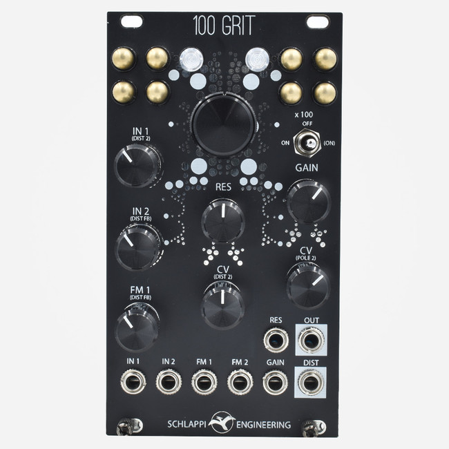 Schlappi Engineering 100 Grit (Black) Eurorack Distortion and filter Module