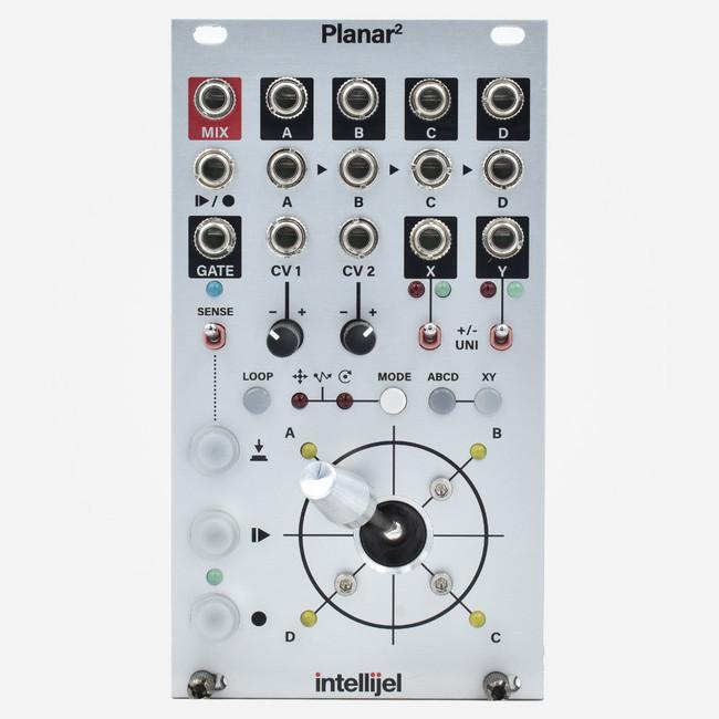 Intellijel PLANAR2 II Eurorack Joystick Vector Mixer and Gesture Recorder Eurorack Module