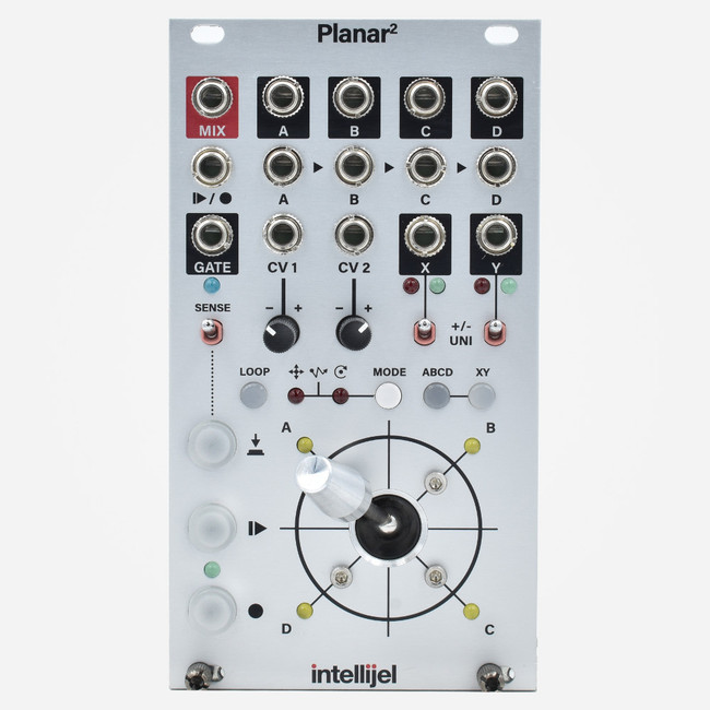 Intellijel PLANAR2 II Eurorack Joystick Vector Mixer and Gesture Recorder Eurorack Module