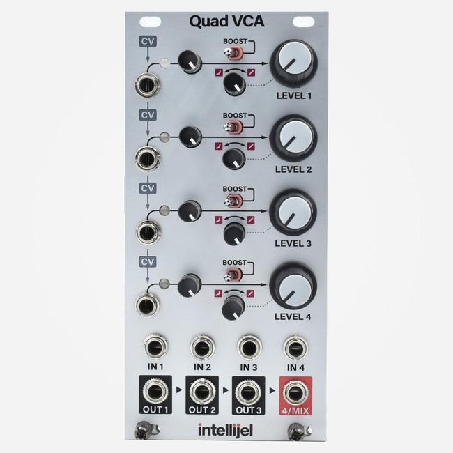 Intellijel Quad VCA and Eurorack Mixer Module