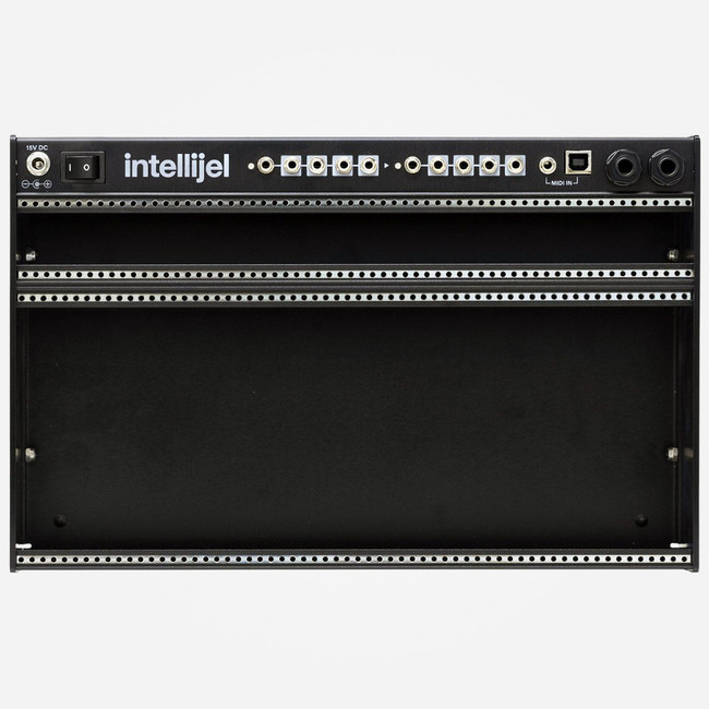 Intellijel Palette 62 4u Compact Eurorack Case (Stealth Black) Front