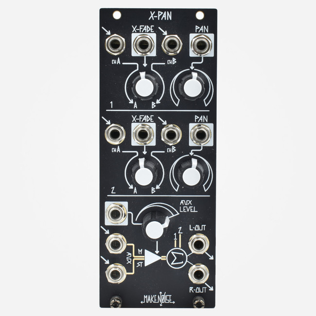 Used Make Noise XPAN Eurorack Crossfaders Stereo Mixer and Output Module